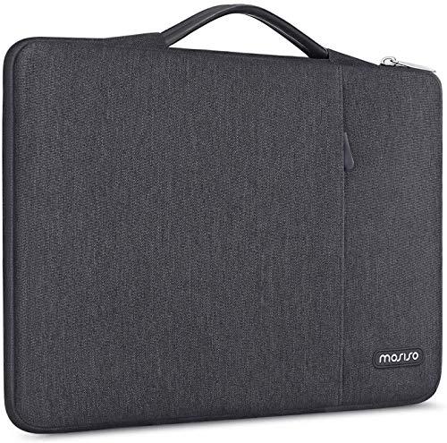 MOSISO Maletín Compatible con 13-13.3 Pulgadas MacBook Pro/MacBook Air/Ordenador Portátil,360 Funda Protectora Bolsa Poliéster Vertical, Bolso de Mano a Prueba de Golpes con Bolsillo,Gris Espacial