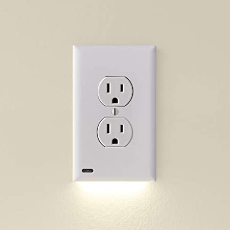 1 Pack Snappower Guidelight Outlet Wall Plate With Led Night Lights For Outlets Décor White Amazon Com