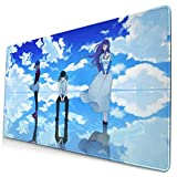 Large Extended Gaming Mouse Pad Ken Kaneki Rize Kamishiro Sky Tokyo Ghoul Touka Kirishima with Stitched Edge Durable Mousepad Keyboard Pad Non-Slip Mice Pads for Gaming Pc Work Learning