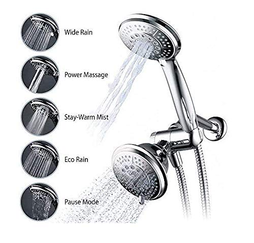 Hydroluxe Full-Chrome 24 Function Ultra-Luxury 3-way 2 in 1 Shower