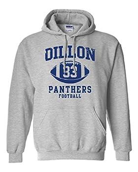 Dillon 33 Football Retro Sports Novelty DT Sweatshirt Hoodie  Medium Sports Gray