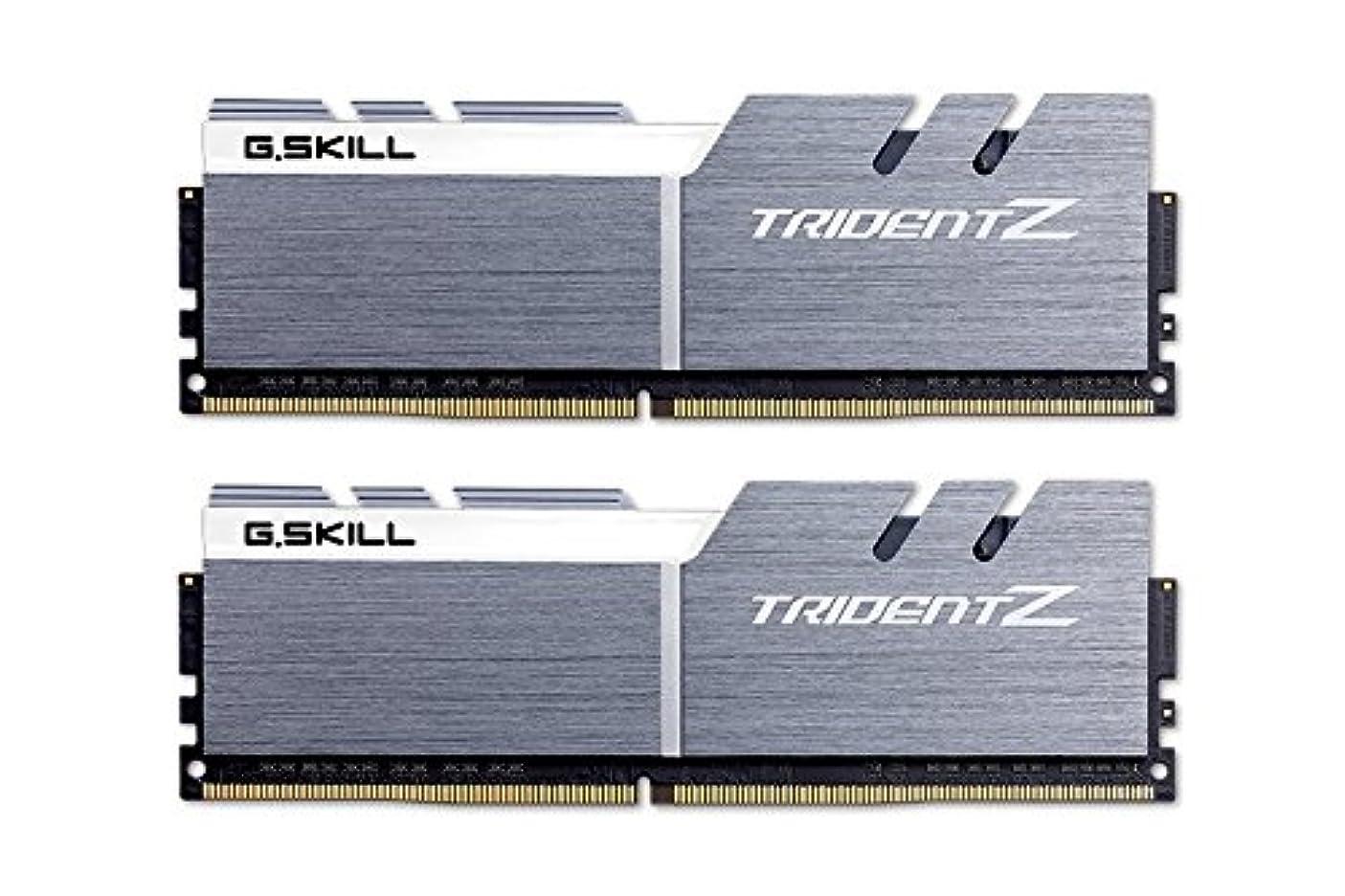 スパイ無限回路G.SKILL F4-4133C19D-16GTZSWCトライデントZシリーズ16 GB(8 GB x 2)DDR4 4133 MHz CL19デュアルチャンネルメモリキット - シルバー