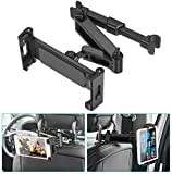 SAWAKE Soporte Tablet Coche,Soporte Tableta Reposacabezas de 5,5' a 12,90', Soporte Asiento Universal Ajustable 360°,Car Tablet Holder para iPad Pro, iPad Mini, Tabletas, Kindle, E-Redear