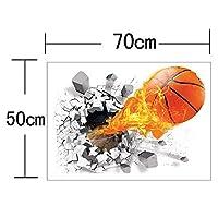 ホームデコレーションボールオブステッカーウォールステッカーフットボールバスケットボールコートウィンドウデコレーション子供部屋リビングルームスポーツ