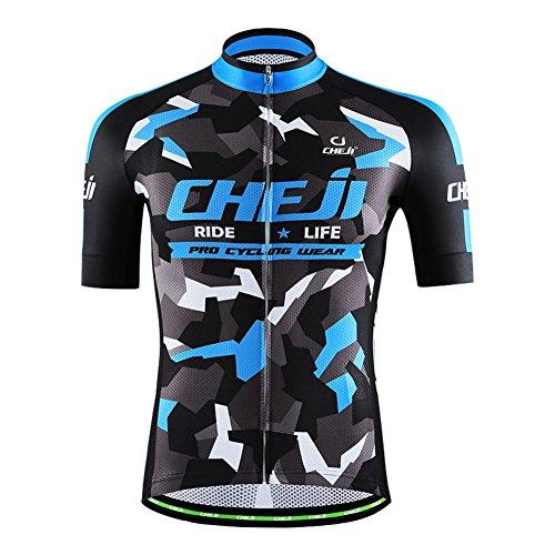 Amur Leopard Maillot Ciclismo de Hombre Camiseta de Manga Corta Ciclismo Transpirable...