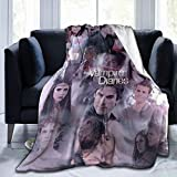 The Vampire Diaries Blanket Ultra Soft Throw Flannel Blanket Warm Fuzzy Blanket for Bed Couch Chair Living Room 50'x40'