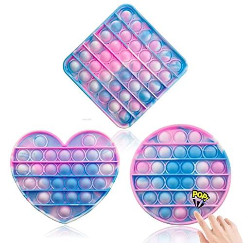 ZNNCO Fidget-Spielzeug zum Stressabbau, langlebig, waschbar, weiches Silikon, für Kinder und Erwachsene, 3 Stück