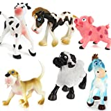 6pcs Plásticos PVC Animales Modelos Establecidos para Niños Juguetes de Regalo Multicolor