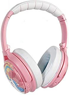 ONANOFF BuddyPhones Cosmos, Active Noise-cancelling and Volume-Limiting Over-ear Kids Headphones, 3 Listening Settings, Foldable, Compact, 18-Hour Battery Life, Includes Hard Case for Storage, Unicorn