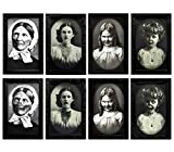 4 Pack Halloween Horror Portrait Decorations Spooky Photo Frame 3D Changing Face Scary Picture Frame Haunted Wall Decoration for Home, Halloween Party Decor