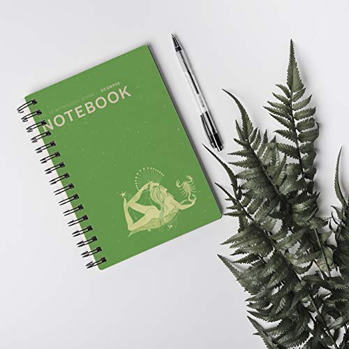 (K.320)Notebook to set goal: Green brown cover with The Asstrology signs - SCORBIO. Paperback |size 6x9| |200 pages| (English Edition)
