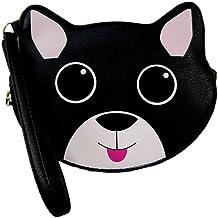 New Betsey Johnson Logo Coin Purse Wallet Wristlet Pouch Clutch Bag Kitty Cat