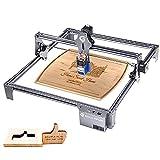 Grabado laser S6 PRO 60W, pantalla de máquina de grabado láser de enfoque fijo, grabado y corte de bricolaje, instalación rápida, 410x420 mm, adecuado para metal, madera, acrílico, cuero