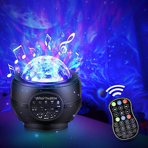 Valentines Day Gift Galaxy Projector Star Projector Night Light Projector for Bedroom, Game Rooms, Home Theatre, Night Light Ambiance, Nebula/Ocean Wave/Northern Lights/Universe/Night Sky Light