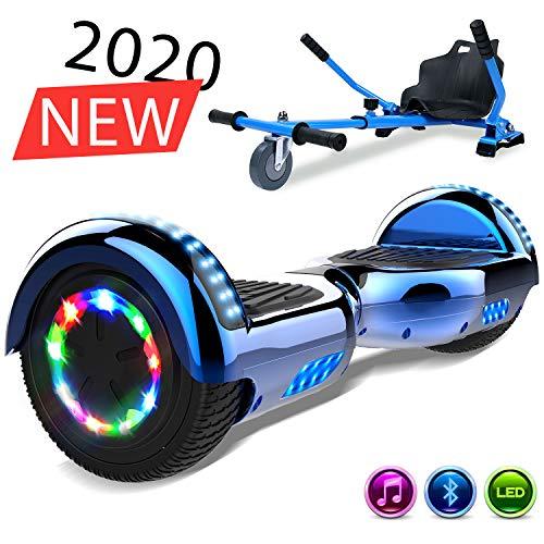 SOUTHERN-WOLF Self-Balancing Scooter, Elektro Scooter 6,5zoll Hover Scooter Board Bluetooth Scooter mit bunten Lichter Bluetooth eingebaute Geschenk für z29 (Blue)
