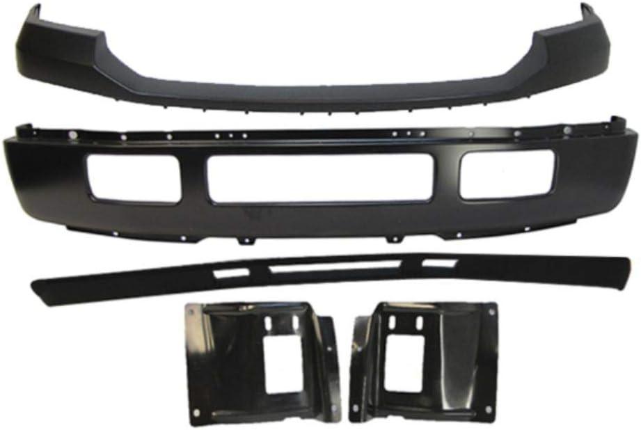 SCKJ Compatible with Max 90% OFF Front Manufacturer OFFicial shop Bumper Black Upper Mo Pad Valance BAR