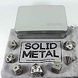 Paladin set di dadi per giochi di ruolo in solido metallo, in custodia di presentazione