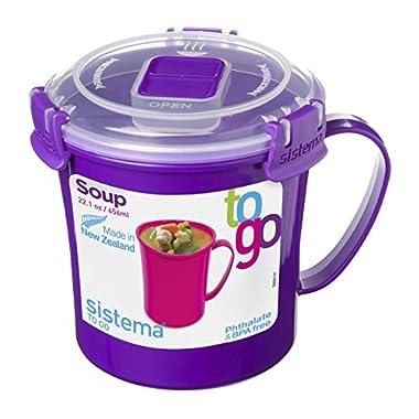 Sistema 21107 Klip It To Go Soup Mug, Multicolor