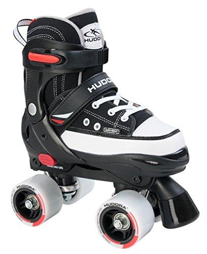 HUDORA Rollschuhe Roller Skate Kinder Rollschuhe, schwarz, 28-31