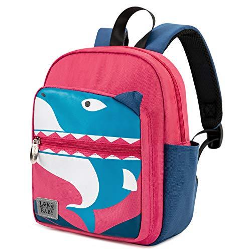 Lekesky Children's Backpack Shark Cartoon Toddler Backpack Preschool Backpack Animal Patterned Schoolbag for Kids for Boys Girls