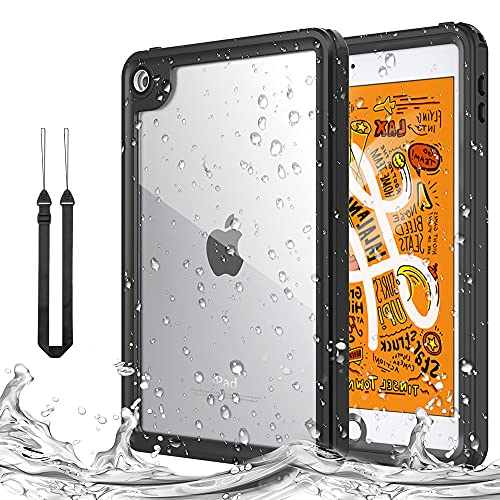MoKo Hülle für New iPad Mini 5 2019 (5th Generation 7.9 inch), [Heavy Duty] Stoßfeste Robuste wasserdichte Ganzkörperabdeckung mit eingebautem Bildschirmschutz füriPad Mini 5th 7.9
