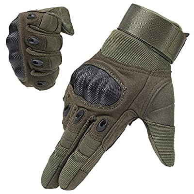ADiPROD Tactical Gloves (1 Pair) Hard Knuckle Full Finger for Outdoor Shooting Army Airsoft Gear