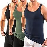 HERMKO 3000 Débardeur Homme Pack de 3 (Autres Couleurs) en 100% Coton Biologique, Taille:6 (XXL), Couleur:Mix n/BF/o