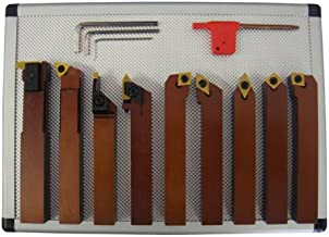 teilig 16 x 16 mm Klemmhalter Drehmeißel Drehstahl Satz HM mit Wendeplatten 7