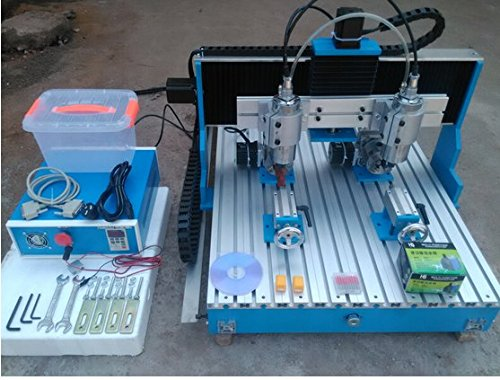 Gowe Doppelspindel 4-Achsen CNC Fräsmaschine mit linearer Führungsschiene Mini CNC Fräsmaschine