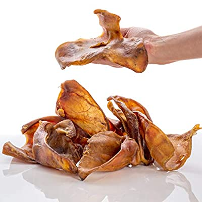 Dragonfly Products Pigs Ears For Dogs Large 5 pieces British UK Natural Raw Healthy Treat Grade A Premium Whole Pork Ear Chew