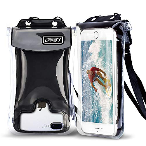 2021 Universal Waterproof Phone Pouch Floating, Cellphone Dry Bag Pouch for iPhone Xs Max/XR/X/8/8P/7/7P, Samsung Galaxy S9/S9 Plus/S8/S8 Plus/Note 8 6 5 4, Google Pixel 2 HTC/LG/Sony/Moto(Black)