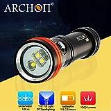 ARCHON d15vp Two in One Tauchen Video & Spot Licht CREE LED 1300lm Unterwasser Beleuchtung...