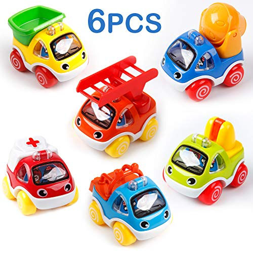 Mini Tudou Toy Cars for Toddlers Pull Back Cars Baby Toys for 1 2 3 Year Old Boy Girl Construction Vehicles RolePlay Fun Toy Gifts for 18M 20M 24M