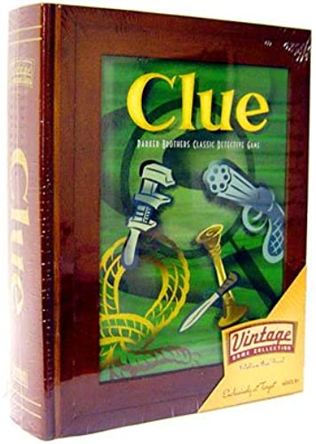 Parker Brothers Vintage Game Collection Wooden Book Box Clue by Hasbro (English Manual)