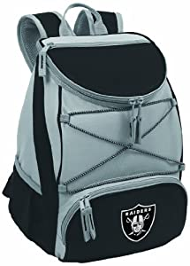 NFL Oakland Raiders PTX Insulated Backpack Cooler, Black from Picnic Time