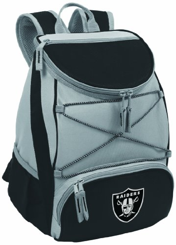 NFL Oakland Raiders PTX Insulated Backpack Cooler, Black