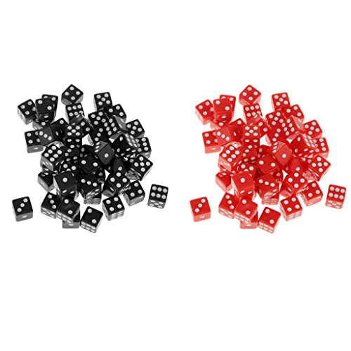 SM SunniMix 100x Square Six Sided D6 Dice Die Dotted for Dungeons And Dragons Role Play