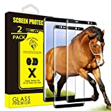 (2Pack) Yoyamo for Samsung Galaxy Note 8 Tempered Glass Screen Protector Gl10, Full Screen Coverage, Black