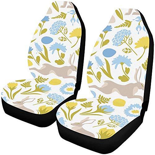Fall Ing Autostoelhoezen voorstoelen Pasen Sprinter haas Paashaas autostoelhoezen autostoelhoezen autobeschermers automatten geschikt voor de meeste auto's