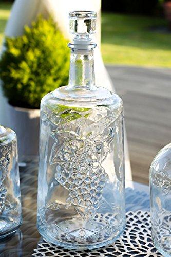 Glasflasche Weinkaraffe Dekantierer Liköre , Cognac , Whisky 3l mit Glaskork