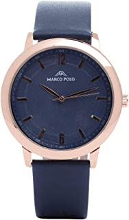 Luxurious and distinctive men's watches Bots whipped Dark blue copper :
