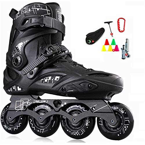 Patines en línea Rodillo Ajustable Adulto Fitness Patines de velocidad en línea Zapatos Hockey Zapatillas de deporte Rodillos Mujeres Hombres Roller Patines para adultos Menores y mujeres Rodillo al a
