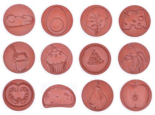 EDUPLAY 220093 Set de tampons nutritionnels Multicolore