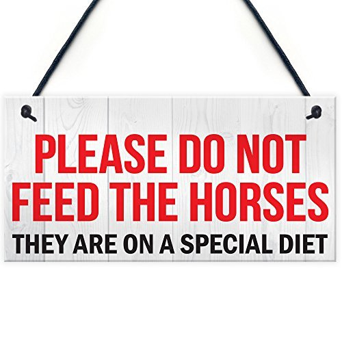 SIGNS Do Not Feed Horse Horses Special Diet Pony Paddock Field Hängeschild Tor Stall