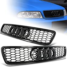 For 1996-2001 Audi A4 S4 Black ABS Honeycomb RS4 Style Front Hood Grille