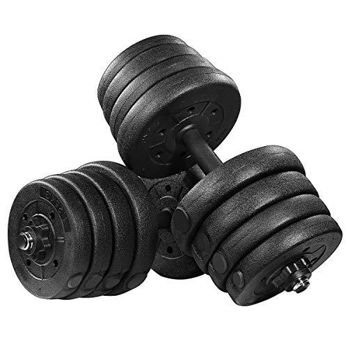 MOVTOTOP Hantelset 30kg,Kurzhantel Set Kurzhanteln 2er Set Einstellbarem Hantel Platten mit Freiem Gewicht Hantelset mit für Krafttraining