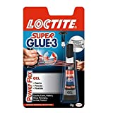 Loctite Super Glue-3 Power Flex, gel adhesivo flexible y resistente, pegament...