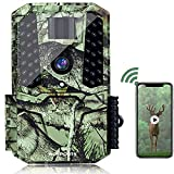 WiFi Trail Camera Bluetooth 30MP 1440P HD 2.0' Color LCD,Hunting Game Camera With Night Vision Motion Activated Waterproof For Wildlife Monitor The Security Of Offices Families The General Public More