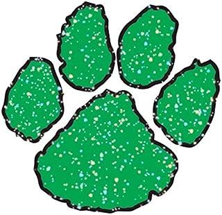 Green Glitter Paw Temporary Tattoos, 100 Pack Spirit Stickers