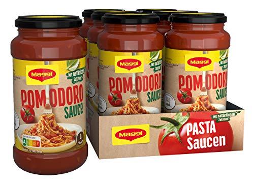 Maggi Pasta Sauce Pomodoro Nudelsauce mit natürlichen Zutaten, 6er Pack (6 x 500g)